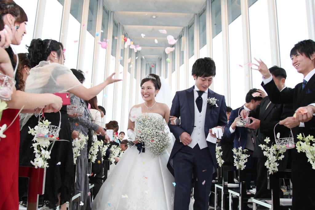 フラワーシャワー 大阪 結婚式撮影