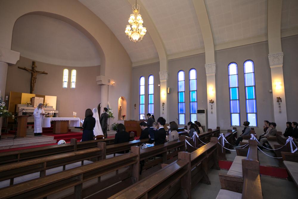 芦屋カトリック教会挙式