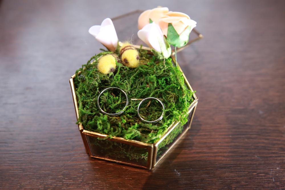 結婚指輪 リングピロー 撮影