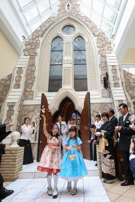 Weddingカメラマン 当日撮影 フラワーシャワー