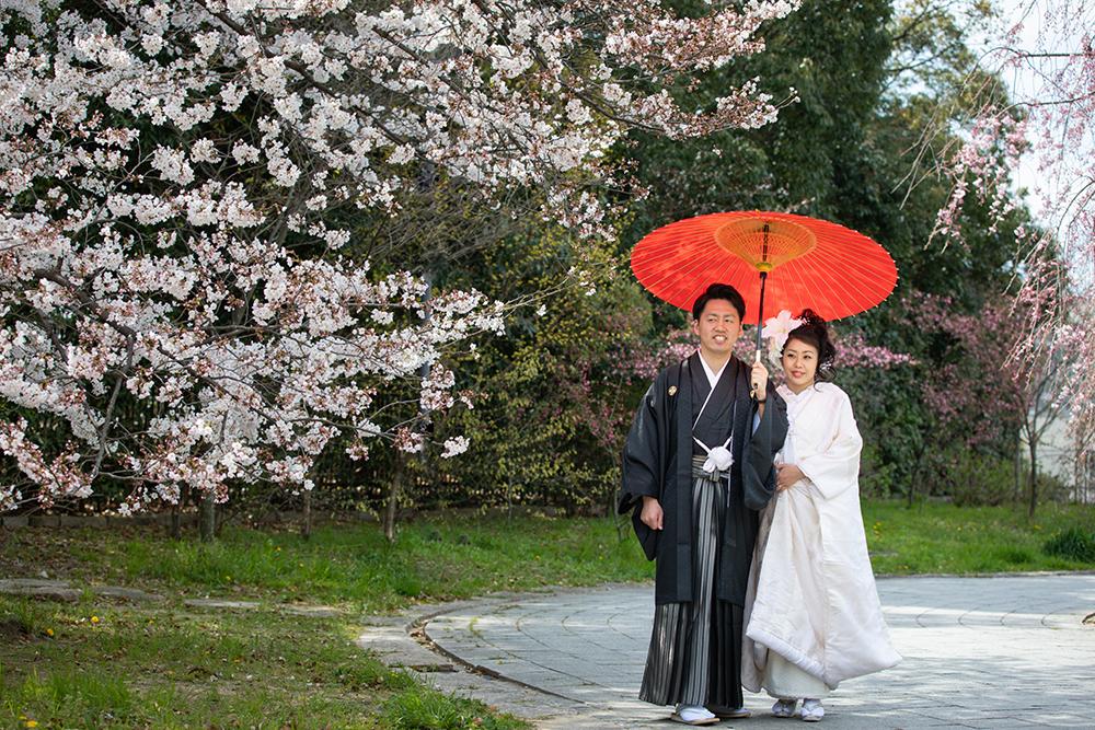 大阪 和装 婚礼前撮り