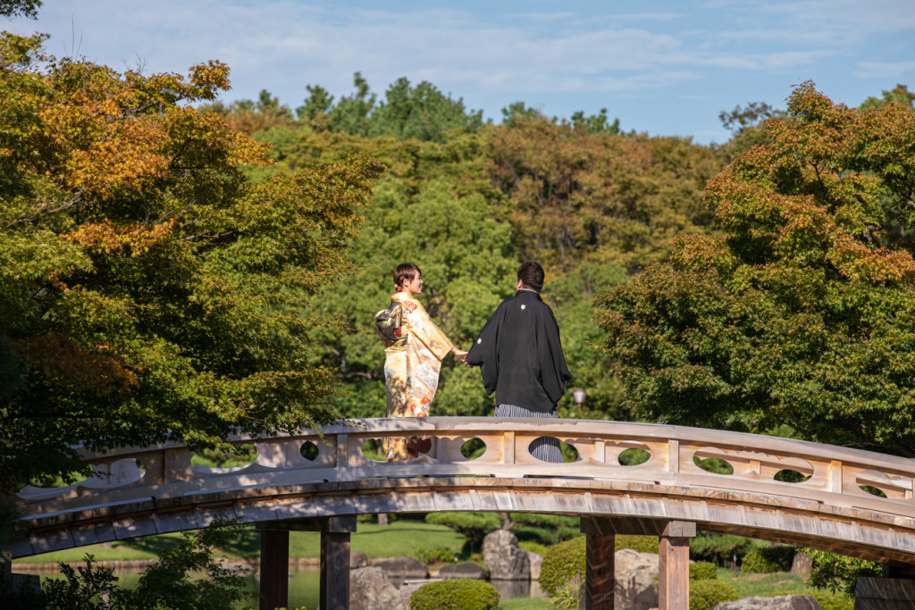 日本庭園 前撮り 大阪