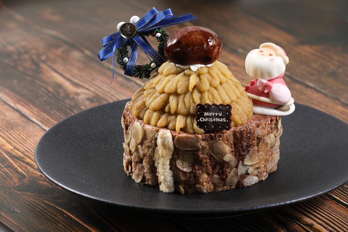 モンブランのクリスマスケーキ